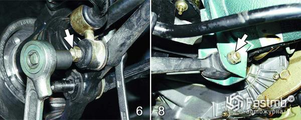 Замена рычага передней подвески шаг 6-8