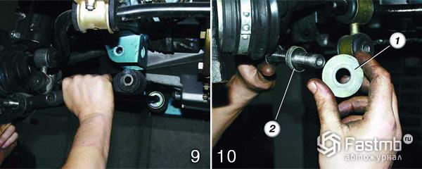 Замена рычага передней подвески шаг 9-10