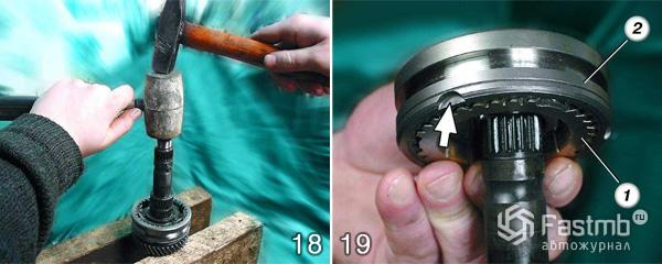 Стопорное кольцо вторичного вала