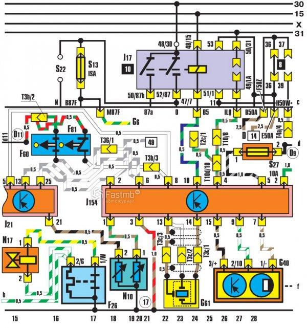 Схема впрыска топлива с регулировкой детонационного сгорания