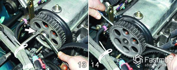 Замена прокладки двигателя шаг 13-14