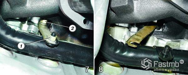 Замена прокладки двигателя шаг 7-8
