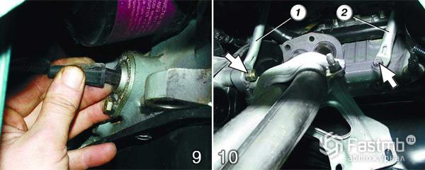 Замена прокладки двигателя шаг 9-10