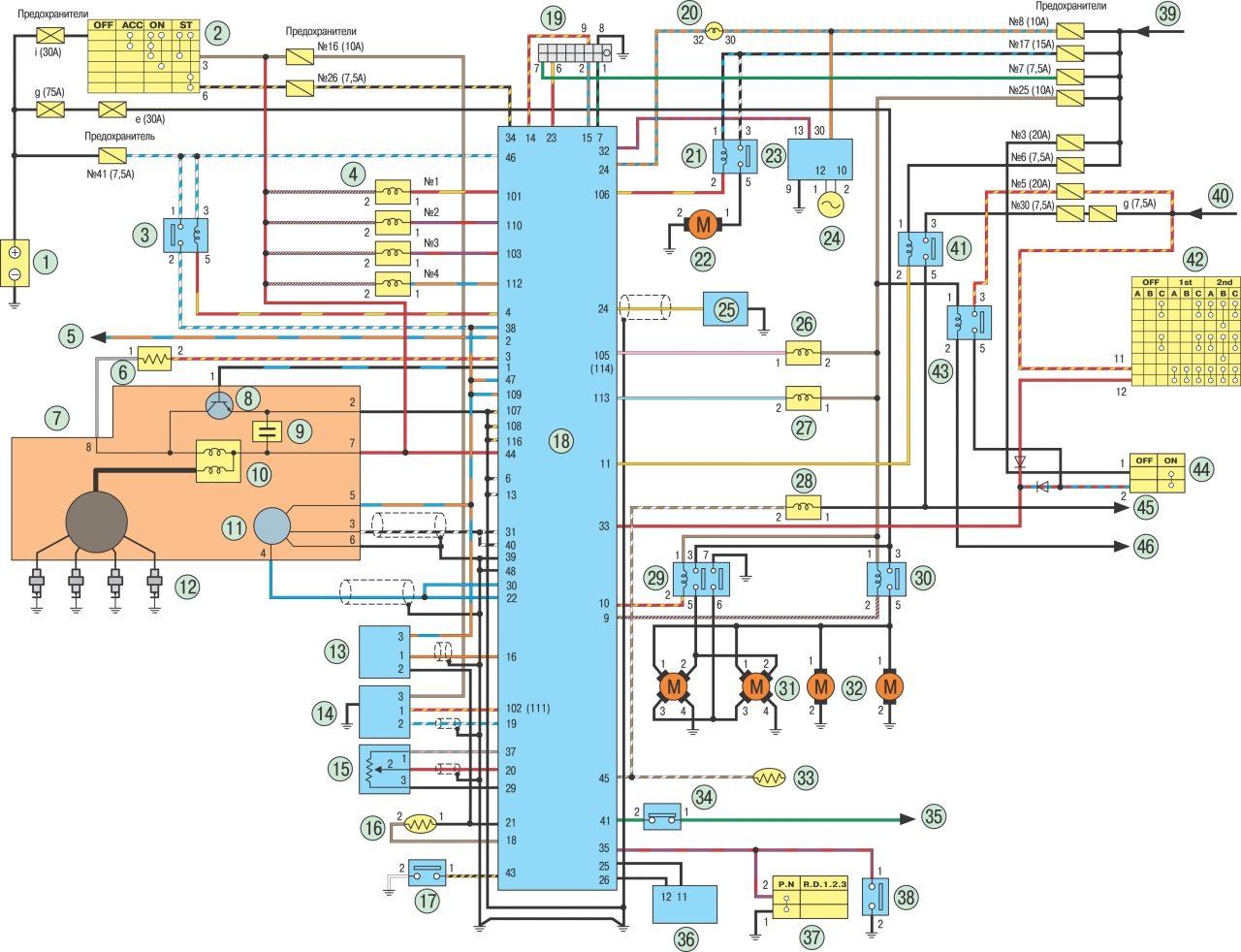Электрическая схема ниссан ноут фото 499