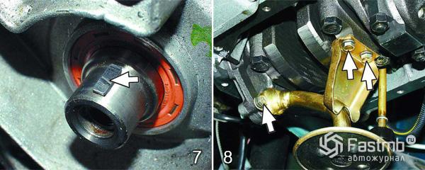 Система смазки двигателя ВАЗ 2110 шаг 7-8