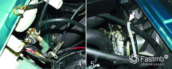 Снятие и замена радиатора охлаждения шаг 4-5