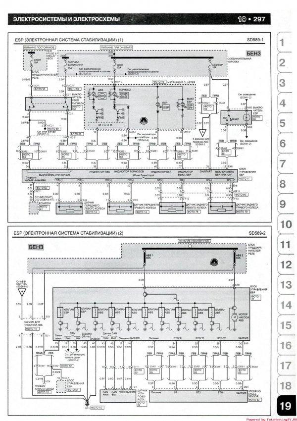Схема электронной системы стабилизации (EPS) Kia Picanto