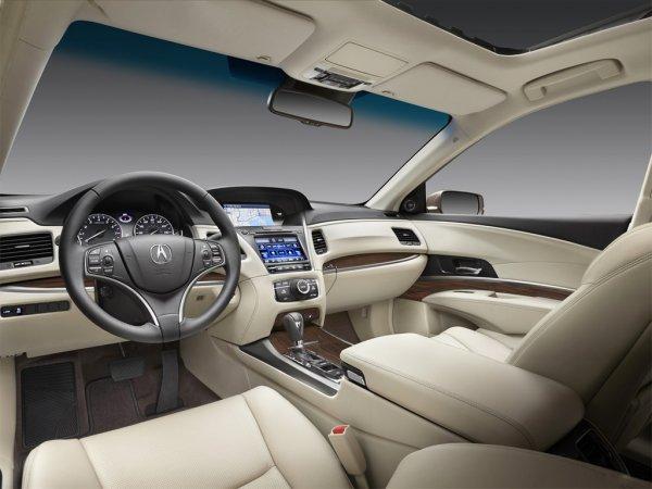 Салон седана автомобиля Acura RLX 2014