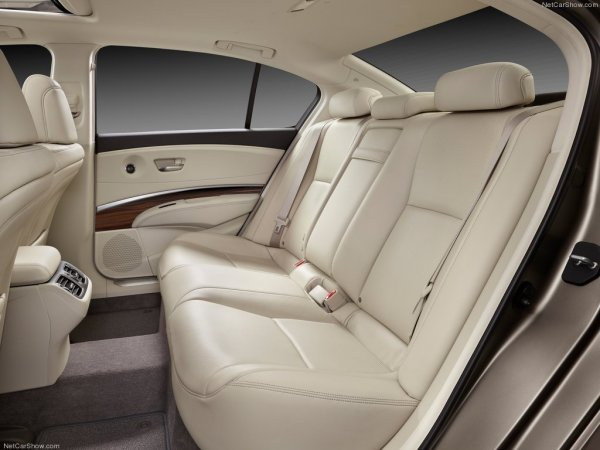 фото Acura RLX 2014 - салон сзади, пассажирские сиденья