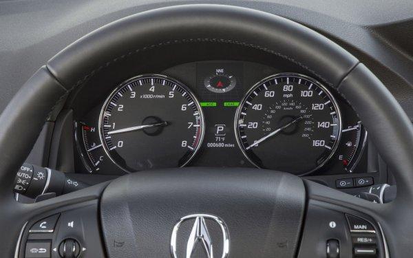 Acura RLX 2014 - салон, спидометр