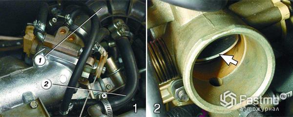 Регулировка троса привода дроссельной заслонки шаг 1-2