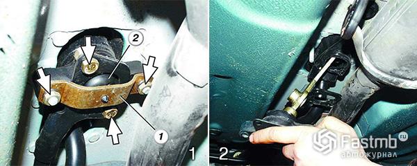 Ремонт рычага переключения передач на ВАЗ шаг 1-2