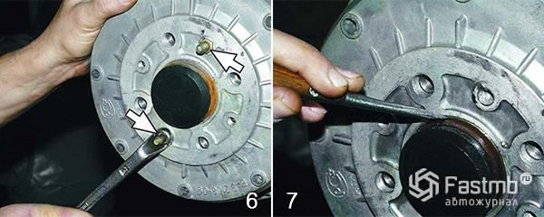 Замена тормозного барабана шаг 6-7