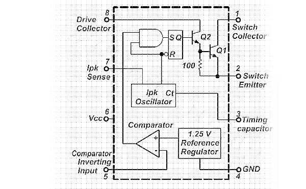Схема USB-зарядки на микросхеме МС33063А