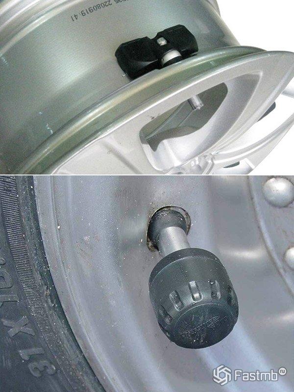 Датчики системы контроля давления в шинах внутренние и наружные