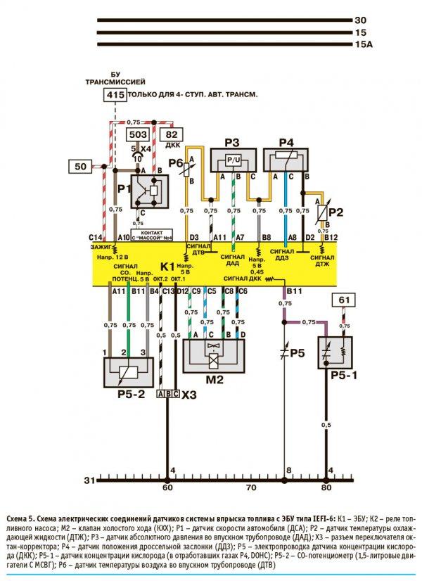 Электрическая схема Дэу Нексия