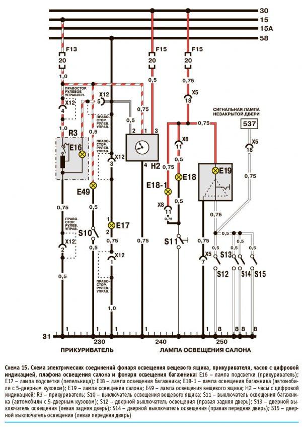 Схема электрооборудования дэу нексия