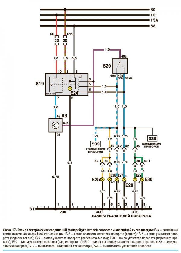 Электрические соединения электрообогрева заднего стекла Daewoo Nexia