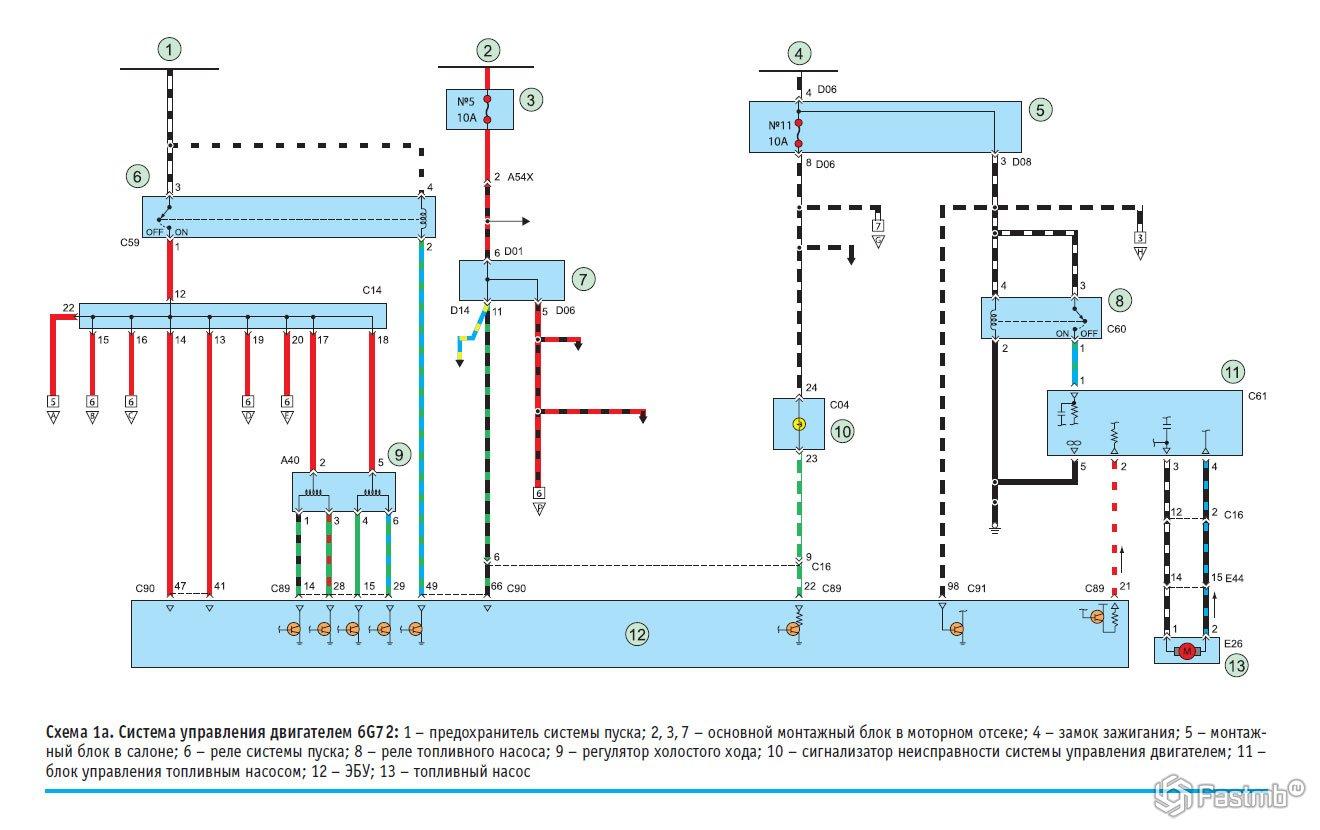 Схема мицубиси паджеро спорт
