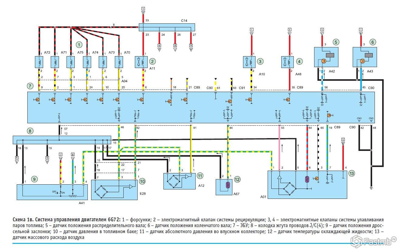 Схема мицубиси паджеро спорт фото 55