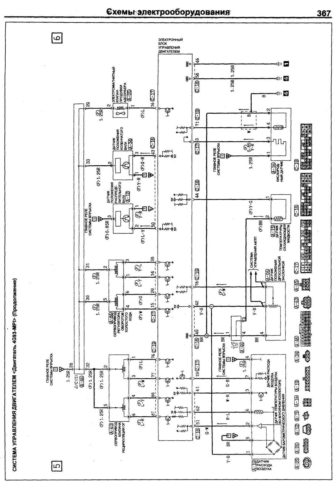 mitsubishi canter t210f 4dr5 электрическая схема