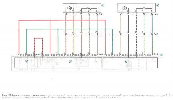 Схема кондиционера KIA Spectra и отопления