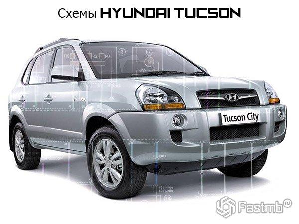 Электрические схемы Hyundai Tucson (2004-2010)