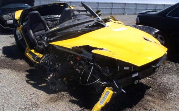 Битый Chevrolet Corvette