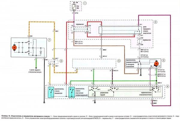 схема подкапотной электропроводки hyundai starex