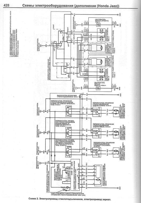 Схема фар на хонда фит