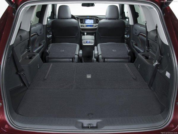 Объём багажника Toyota Highlander 2014