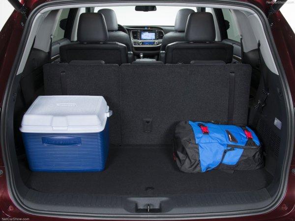 Объём багажника Тойота Хайлендер 3