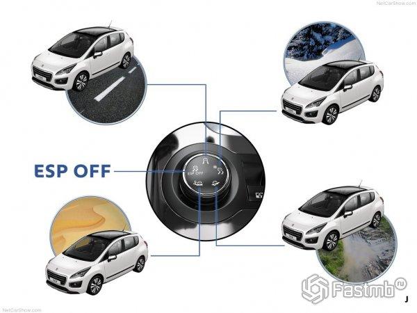 Режим передвижения Peugeot 3008 2015