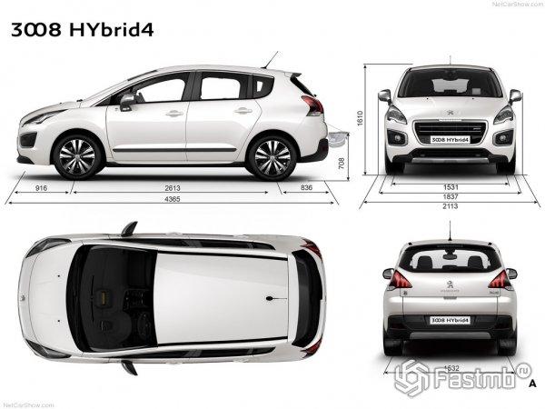 Размеры нового Peugeot 3008 2015