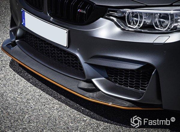 BMW M4 GTS, бампер и фары