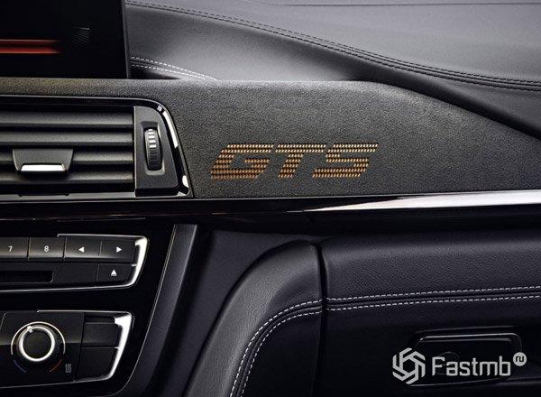 Знак GTS на передней консоли