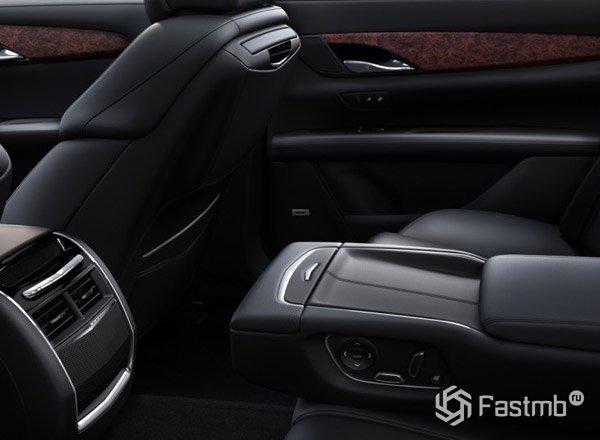 Cadillac CT6, задние сиденья