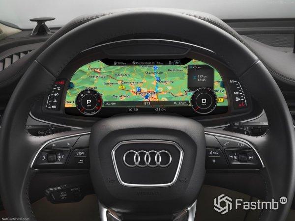 Щиток приборов традиционен для Audi