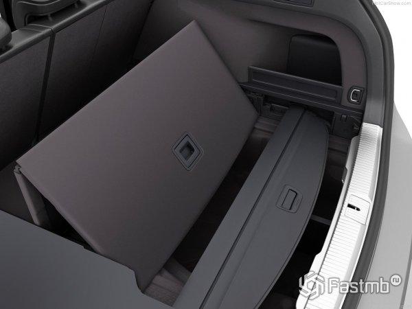 Багажник Passat имеет потай для запаски