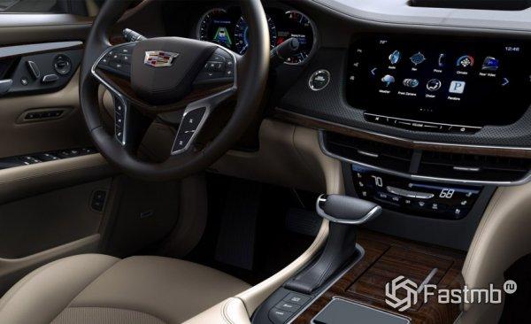 Cadillac CT6, передняя консоль