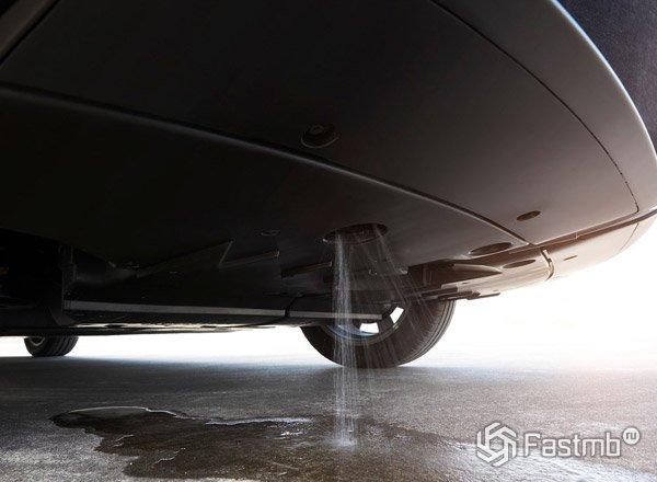 Toyota Mirai, сброс воды