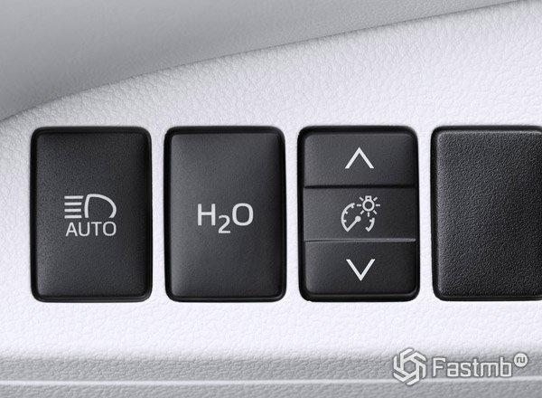 Toyota Mirai, кнопка сброса воды