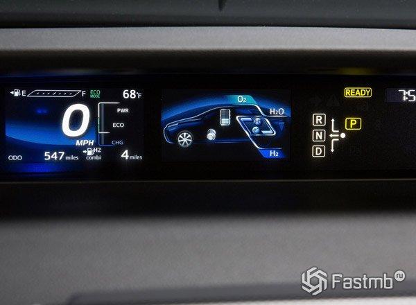Toyota Mirai, панель приборов
