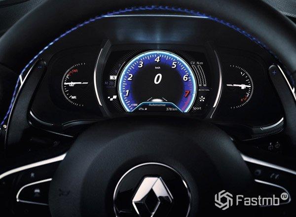 Renault Megane 2016, панель приборов