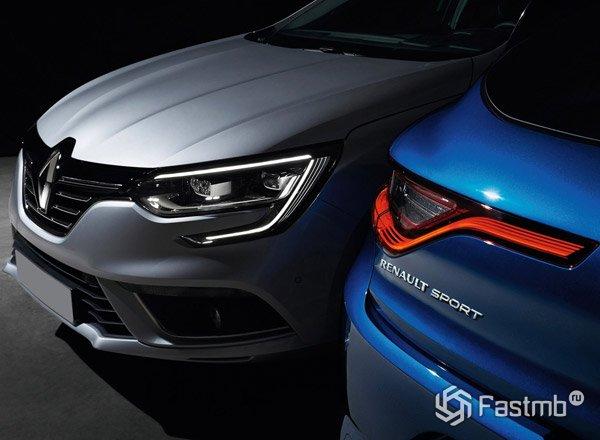 2016 Renault Megane, вид спереди и сзади
