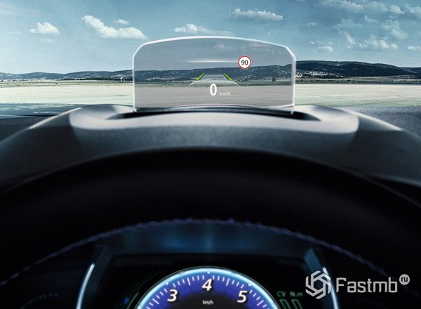 2016 Renault Megane, интерактивная панель