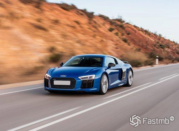 2017 Audi R8, спортивный автомобиль