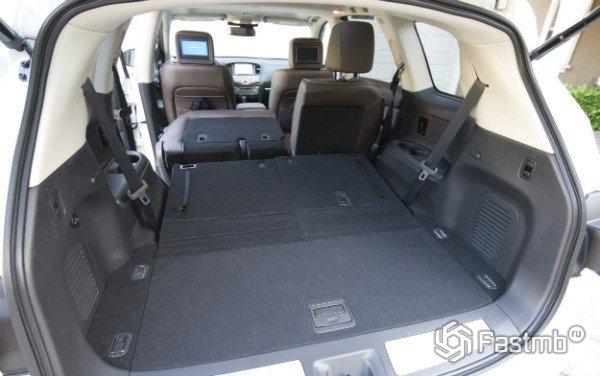 Размер багажника Infinity QX60