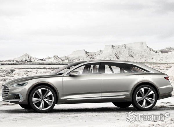 Audi A9 Prologue Allroad, вид сбоку