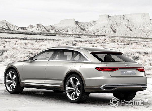 Audi A9 Prologue Allroad, вид сзади